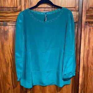NWT JCrew Emerald Green Silk Blouse